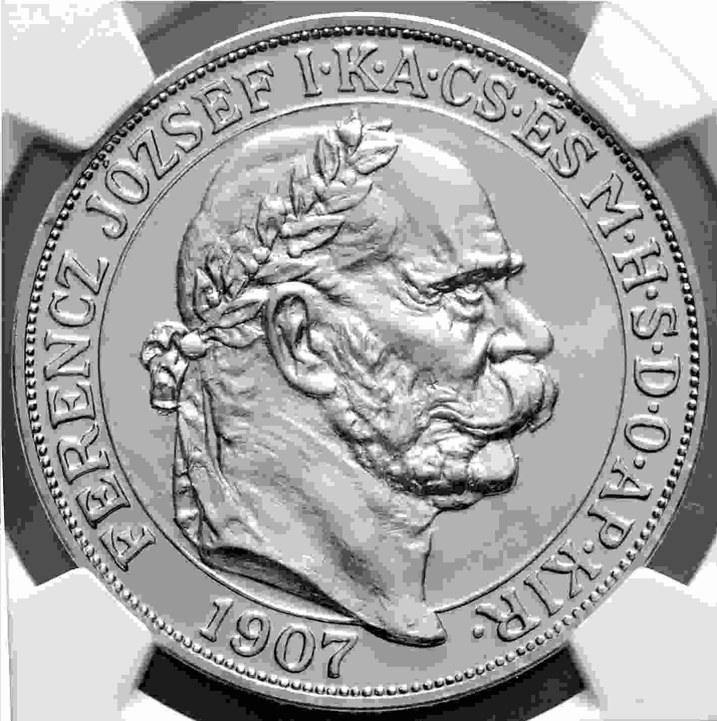 【動画あり】チェコ・スロバキア 2017年 フランツ・ヨーゼフ1世 皇帝戴冠式150周年記念 100コロナプルーフプラチナ貨NGC-PF70