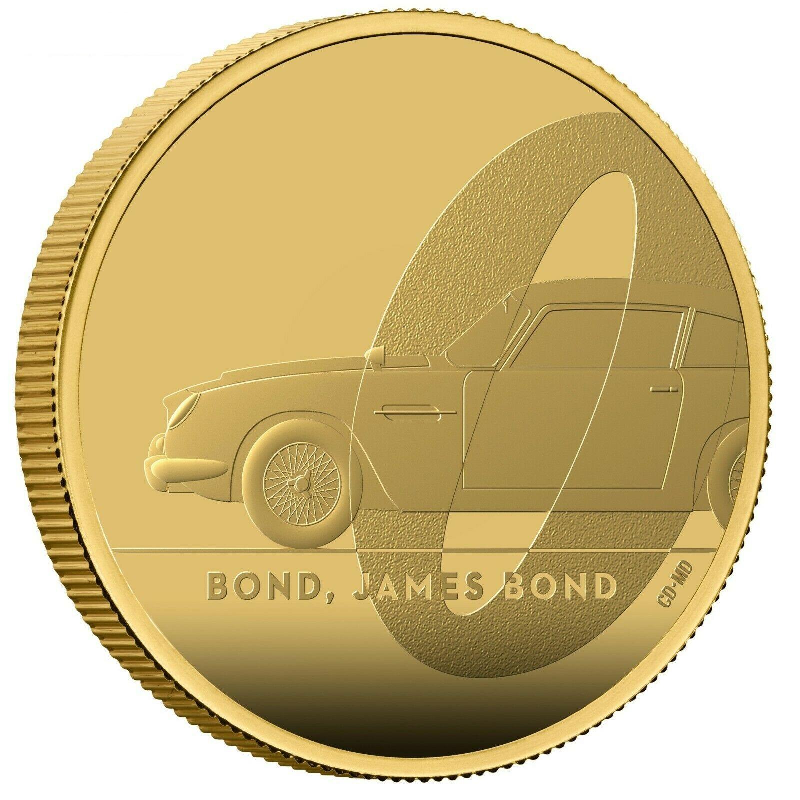 グレートブリテン2020年エリザベスII世1オンス100ポンドプルーフ純金金貨ジェームズボンド007NGC社-PF70UCAM-6027343-009