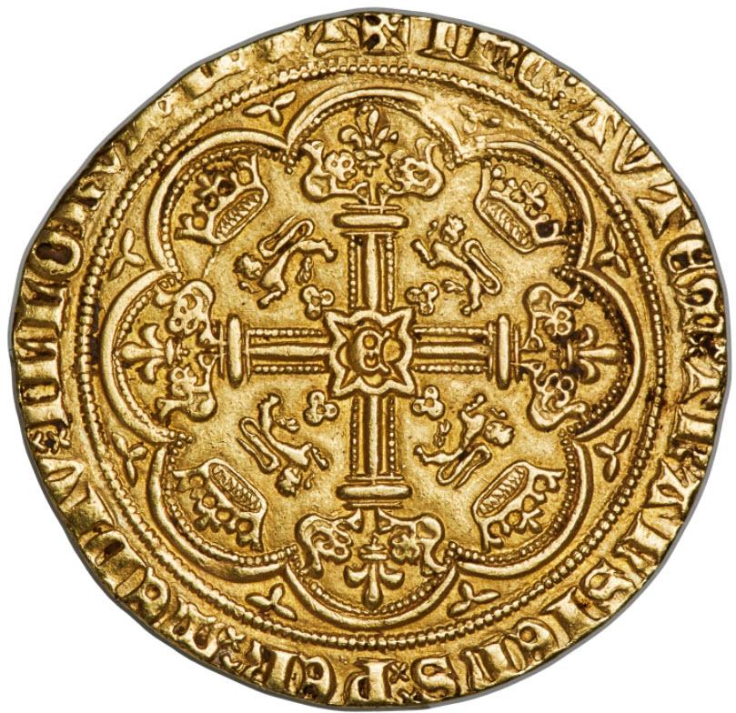 グレートブリテン エドワード3世(1361-1369) ノーブル金貨NGC-MS61