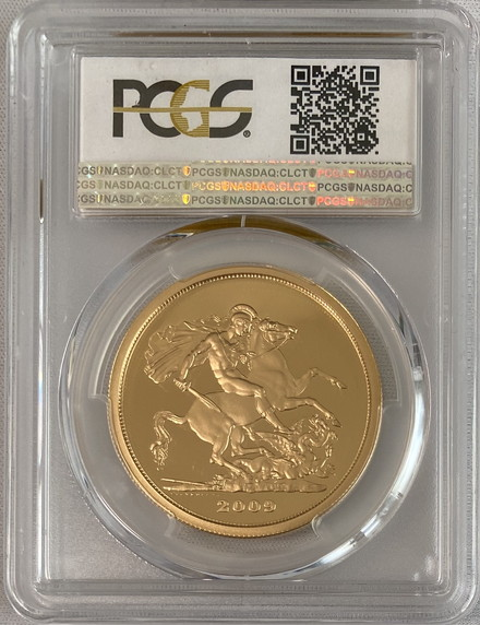 グレートブリテン2009年エリザベスII世5ポンドプルーフ金貨PCGS-PR70DCAM