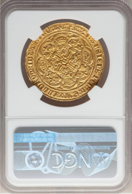 グレートブリテン エドワード3世(1361-1369)ノーブル金貨NGC-MS65