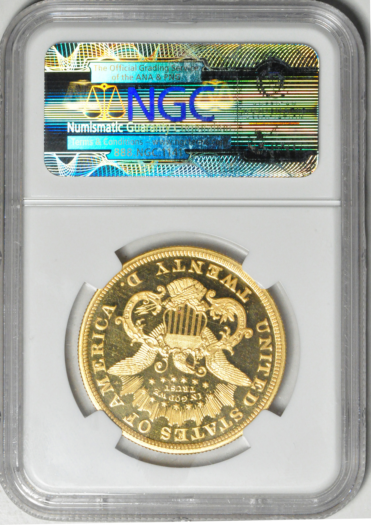 アンティークコイン アメリカ 20ドル金貨リバティヘッド1871 $20 Liberty Head Double Eagle NGC PF66ウルトラカメオ