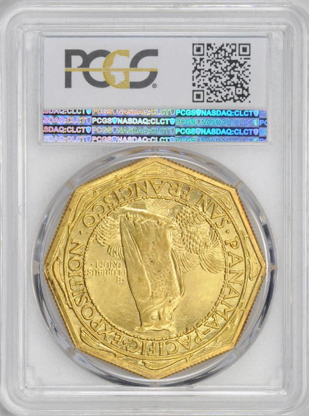 アメリカアンティークコイン50ドル パナマパシフィック金貨1915-S Octa $50 PCGS CAC MS65