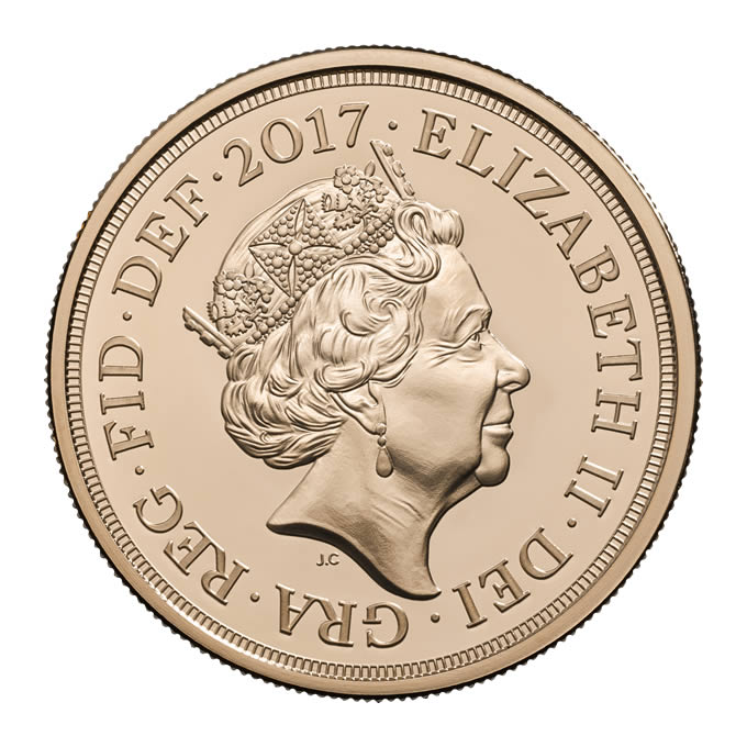 【動画あり】グレートブリテン 2017年 エリザベスII世 200周年記念 5ポンド金貨 NGC-MS70 DPL 6027608-016
