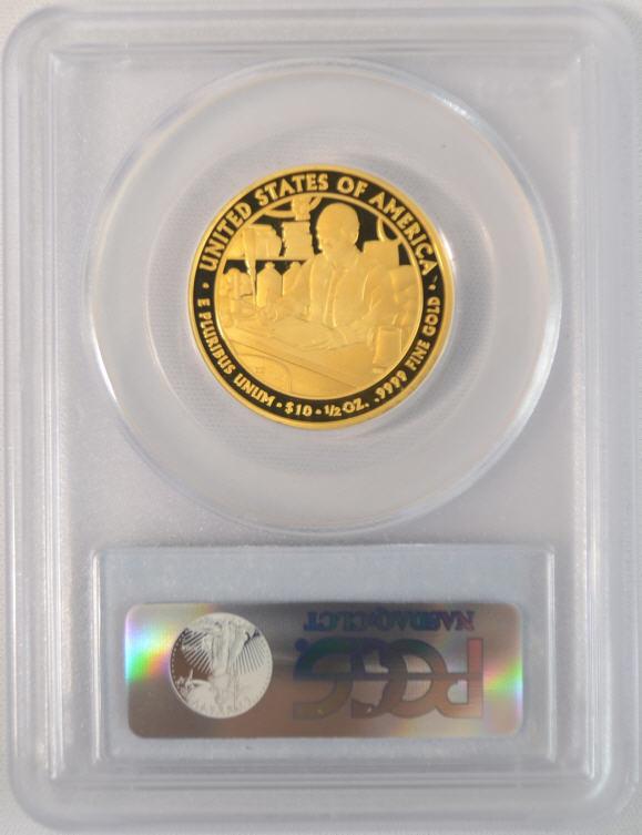 【動画あり】2010-W 10ドル金貨 ブキャナンズ リバティ$10 PCGS PR70 DCAM