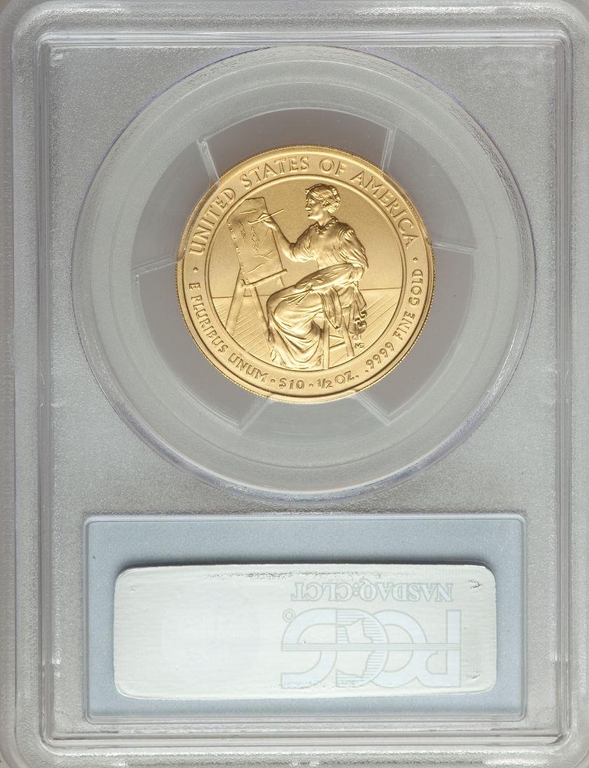 2011-W 10ドル金貨 ルクレティア・ガーフィールド $10 PCGS MS-70