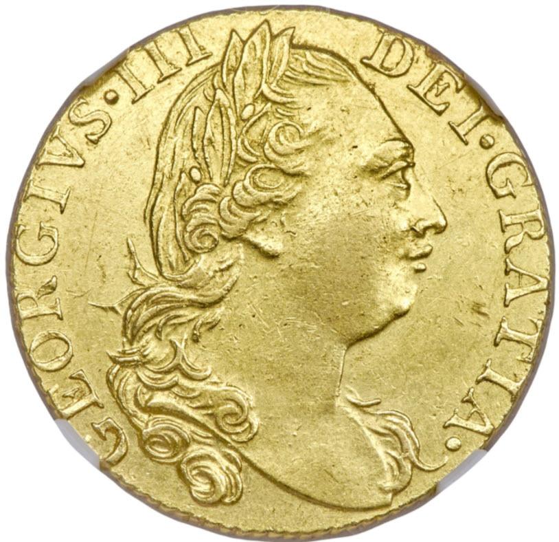 グレートブリテン ジョージ3世1776年ギニー金貨NGC-MS61