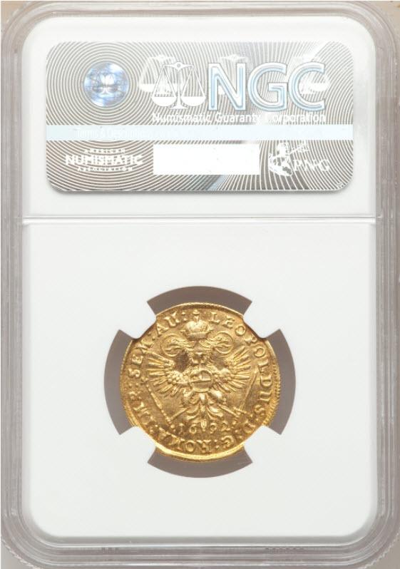 【動画あり】アンティークコインドイツ1692-IR1ダカット金貨ハンブルグNGC-MS63