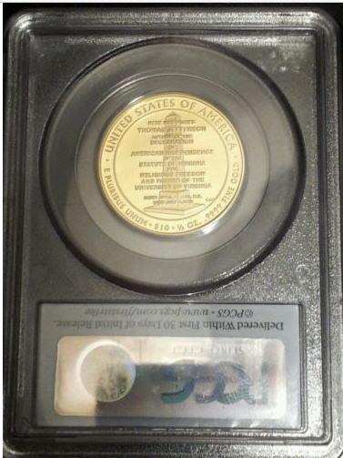 2007-W10ドル金貨ジェファーソンリバティ$10PCGS-PR70(First Strike)