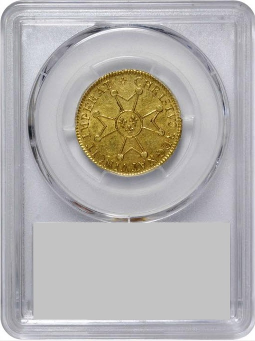 フランス1718-K年ルイ15世ルイドール金貨PCGS-AU58