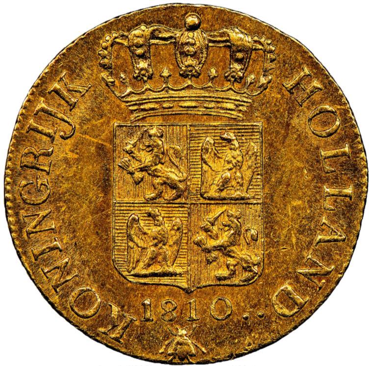 【動画あり】アンティークコイン オランダ王国1810年ルイ・ナポレオンダカット金貨NGC-MS62