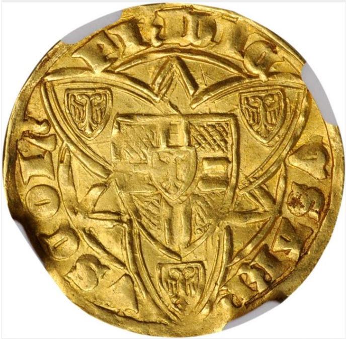 ドイツ1371-1414年フリードリヒ3世ゴールドゴールデン金貨NGC-MS62