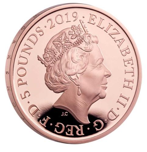 グレートブリテン2019年ヴィクトリア女王生誕200周年記念5ポンドプルーフ金貨NGC-PF70UCAM