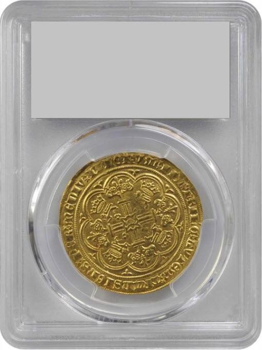 グレートブリテン1361-1369年エドワード3世ノーブル金貨PCGS-MS62