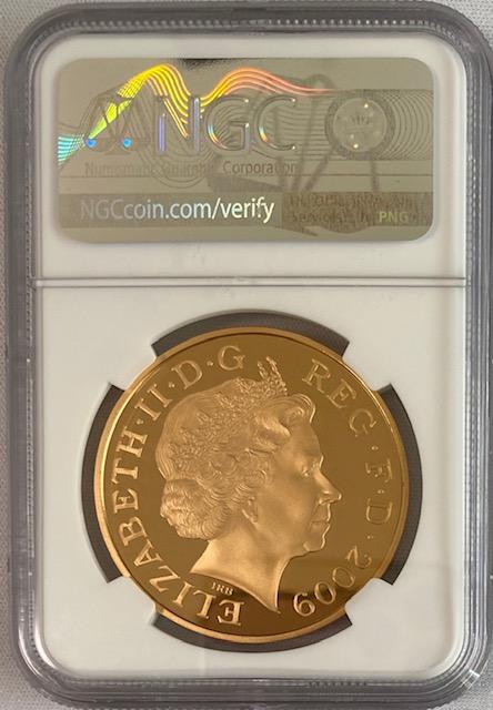 グレートブリテン2009年ヘンリー8世生誕500周年記念1オンス5ポンドプルーフ金貨NGC-PF70UCAM