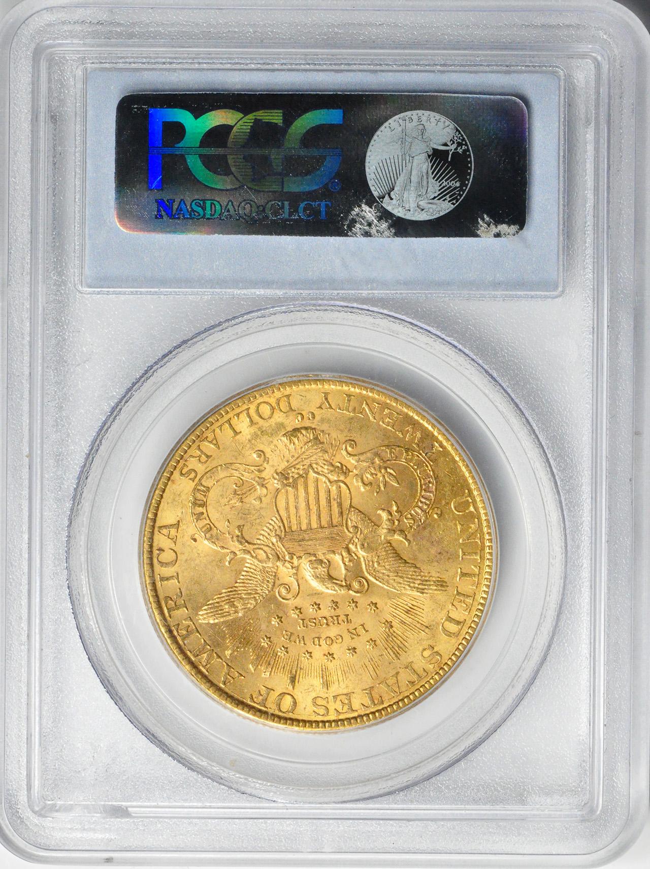 【右肩上がり】アンティークコイン アメリカ 20ドル金貨リバティヘッド1890-CC $20 Liberty Head Double Eagle PCGS MS62