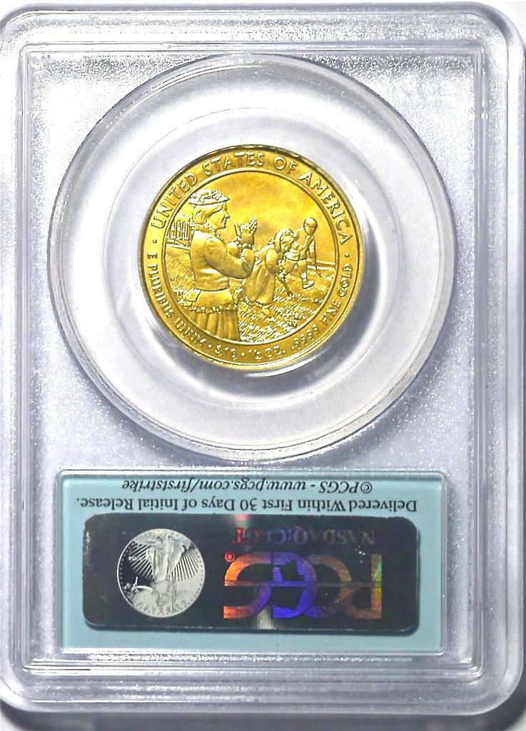 【動画あり】2011-W 10ドル金貨 ルーシー・ヘイズ $10 PCGS MS-70 ファーストストライク完全未使用