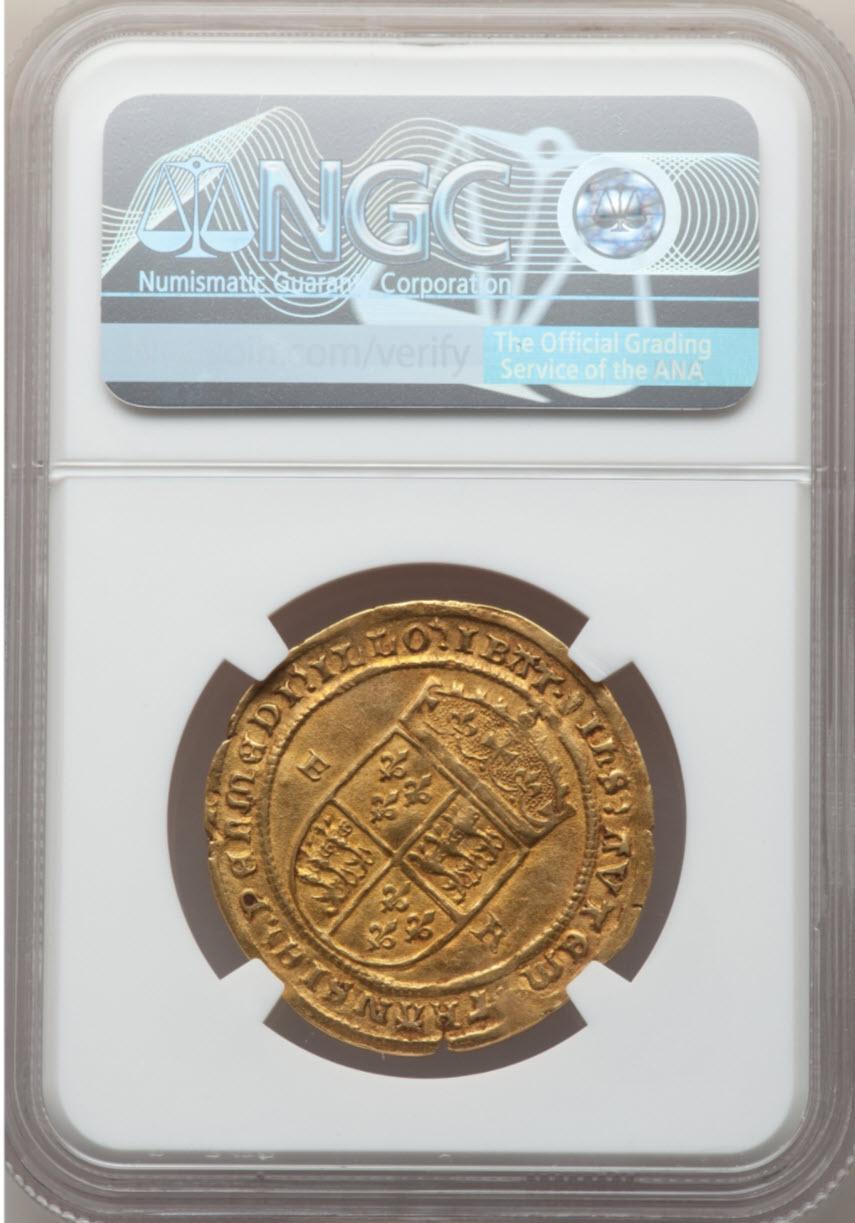 【動画あり】エドワード6世(1547-1553)1/2ソブリン金貨ND(1551-1553)AU50 NGC