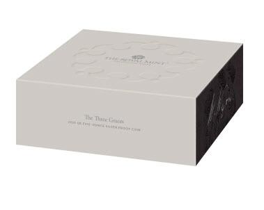 グレートブリテン2020年スリーグレーセス10オンス10ポンドプルーフ銀貨オリジナル箱付き