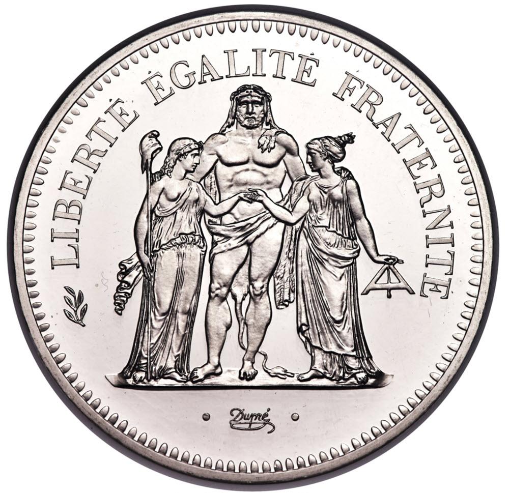 【動画あり】フランス試鋳貨プラチナ貨 リパブリックプルーフプラチナ貨50フラン 1980 PF67 UCAM NGC