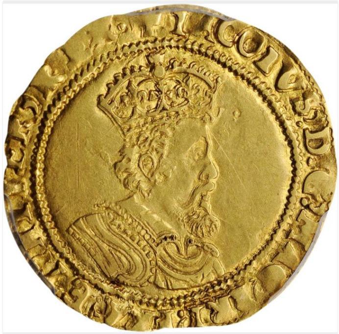 グレートブリテン1618-19年ジェームズ1世ダブルクラウン金貨PCGS-AU55