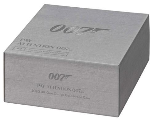 グレートブリテン2020年エリザベスII世1オンス100ポンドプルーフ純金金貨ジェームズボンド2nd007箱付き