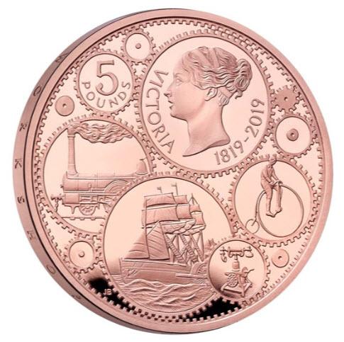 【動画あり】グレートブリテン2019年ヴィクトリア女王生誕200周年記念5ポンドプルーフ金貨PCGS社PR70DCAM箱付き