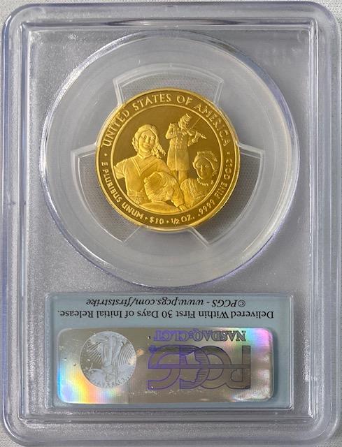 【動画あり】2011-W 10ドル金貨 イライザジョンソン $10 PCGS PR70-DCAM ファーストストライク19857023