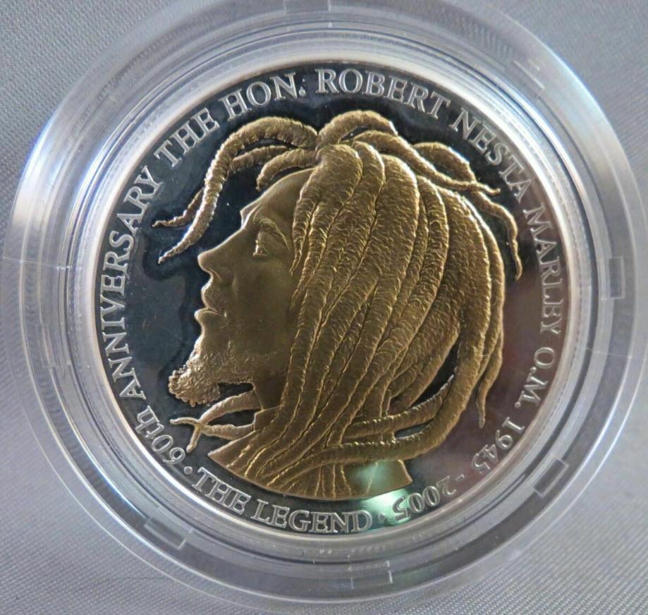 ジャマイカ・ボブマーリー2005年50ドル1オンス銀貨