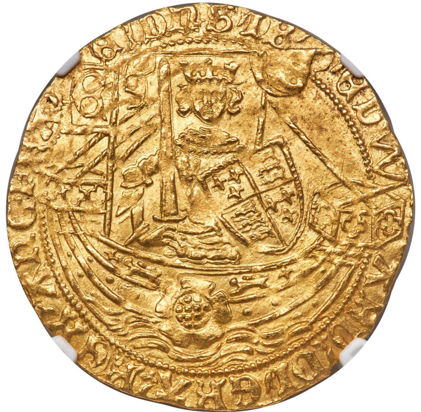アンティークコイン・オランダ・ローズノーブル金貨 ND(1590-1593) MS64 NGC