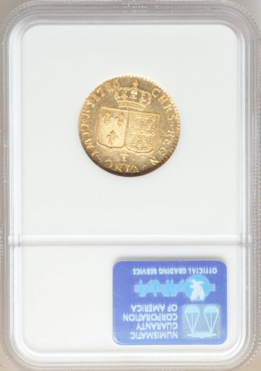 アンティークコイン-フランス-ルイ16世ルイドール金貨1786T-NGC-MS64