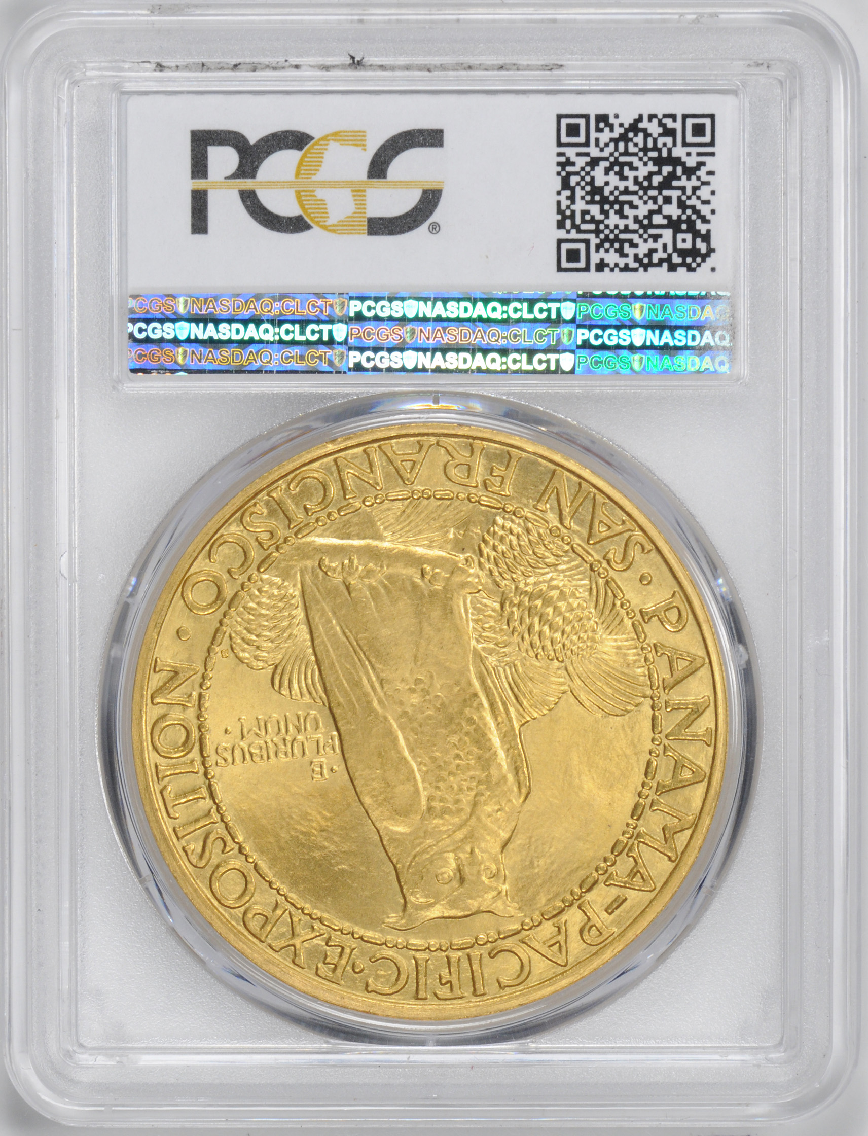アメリカアンティークコイン50ドル パナマパシフィック金貨1915-S Round $50 PCGS MS65