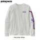 ボーイズ・ロングスリーブ・グラフィック・オーガニック・Tシャツ Fitz Script: White 62229 / 【patagonia パタゴニア】