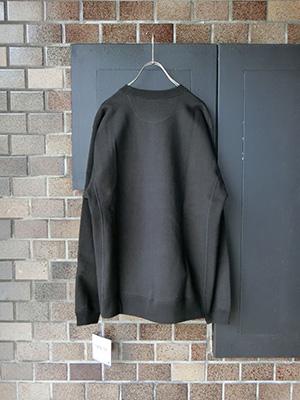【WASEW】TOUGH BRAIDED SWEAT SHIRT BLACK