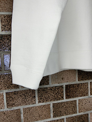 【WASEW】TOUGH BRAIDED SWEAT SHIRT WHITE