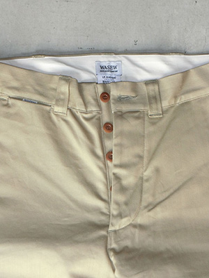 【WASEW】CHINO TROUSERS