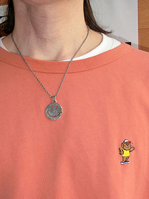 【NORTH WORKS】1$中抜きSmile Necklace
