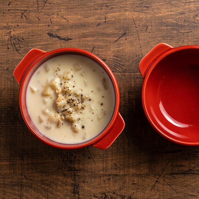 ★グッドプラス ARITA スープカップ 2個セット レッド 【日本製(有田焼)】