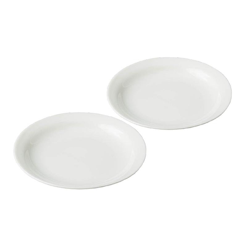 ★グッドプラス ARITA 丸皿16� 2個セット アイボリー 【日本製(有田焼)】