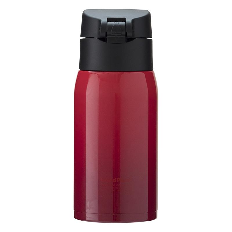 ★グッドプラス・真空断熱ステンレスマグボトル(エアゼロ) 350mlグラデレッド