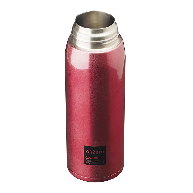 ★グッドプラス・真空断熱ステンレスボトル(エアゼロ)500mレッド