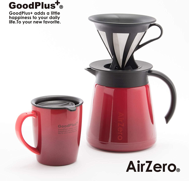 ★グッドプラス・真空断熱ステンレスマグカップ(エアゼロ)300mlグラデレッド