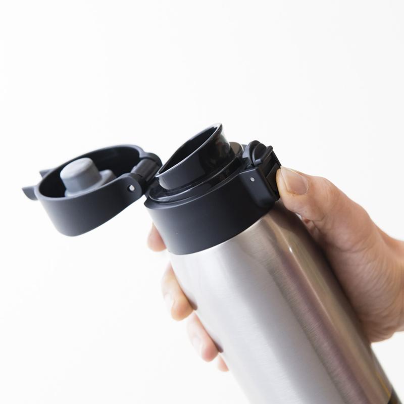 ★グッドプラス・真空断熱ステンレスボトル(エアゼロ)500mlクリアステンレス