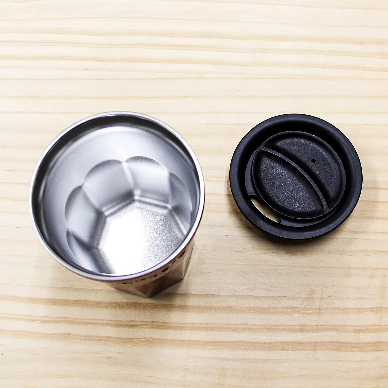 グッドプラス 真空断熱ステンレス 蓋付 タンブラー 〈エアゼロ〉 450ml (グラデブルー)