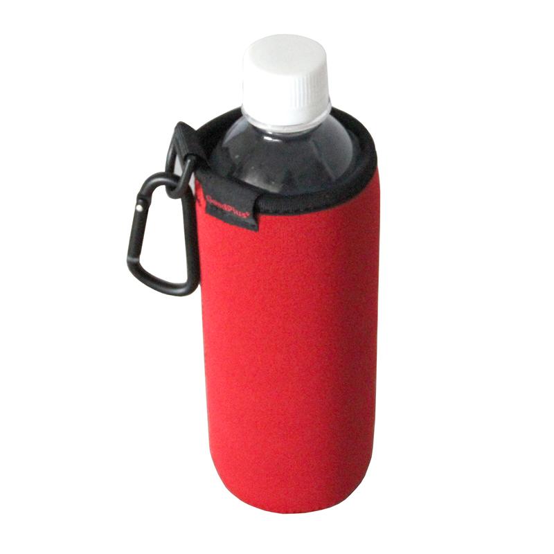 ★グッドプラス・ボトルカバー 500mlタイプ (ブラック/レッド リバーシブル)