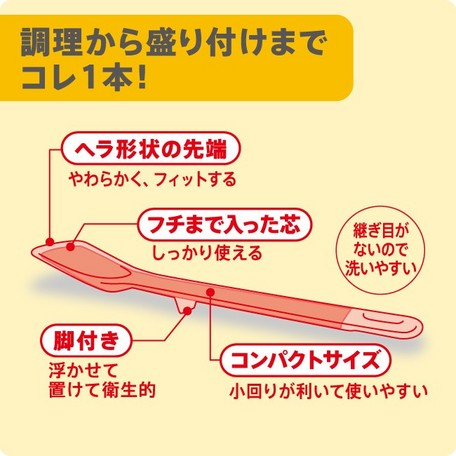【いろいろ使える多機能スプーン】お料理はかどるシリコーンスプーン