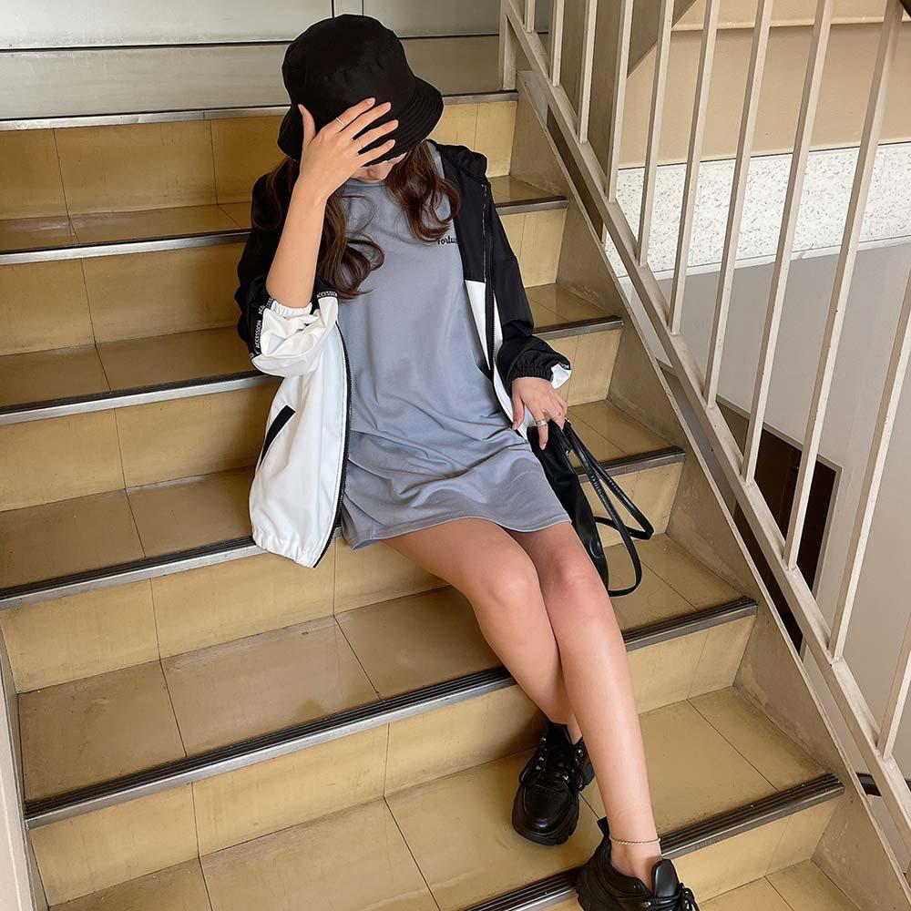 【4/8再入荷】【ネコポス送料無料】バックロゴチュニックTシャツ