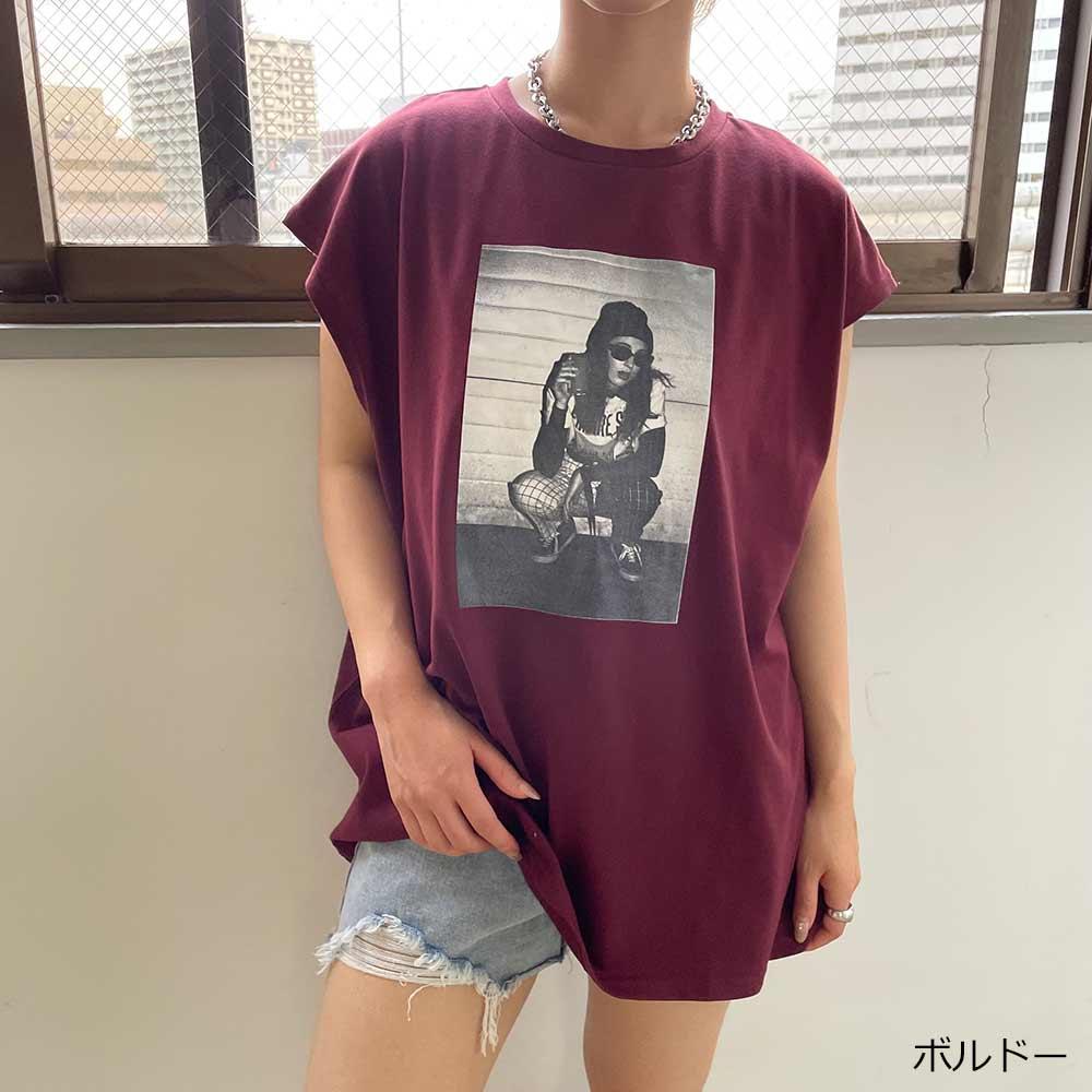 【7/7再入荷】ガールズフォトフレンチスリーブTシャツ