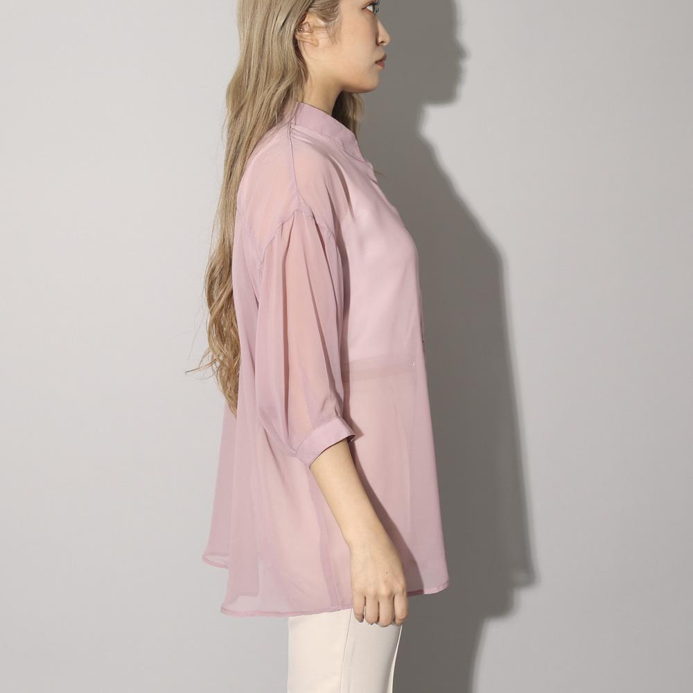 【新色追加】【ネコポス送料無料】シフォンフラットSETシャツ