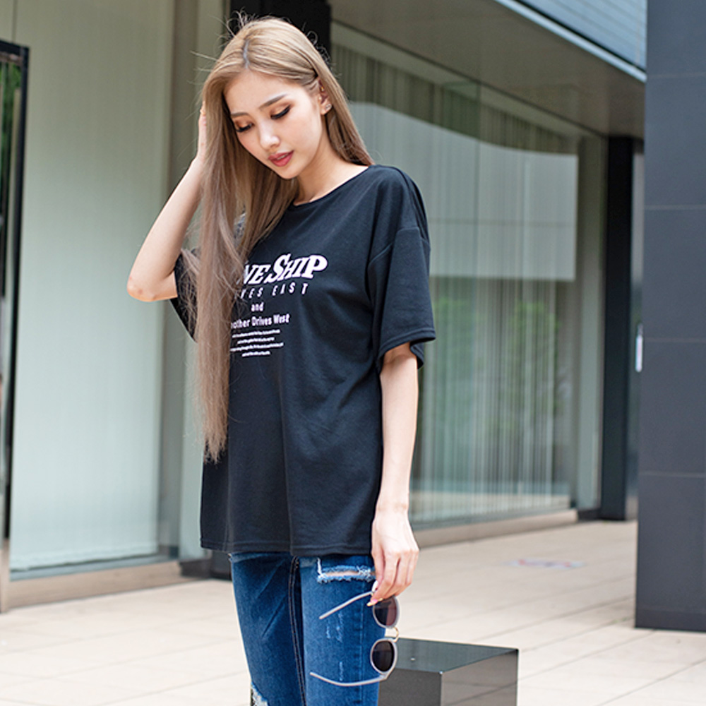 【ネコポス送料無料】ONESHIPバックスリットTシャツ